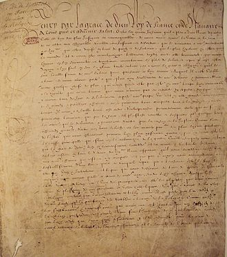 Edict of Nantes - The Edict of Nantes
