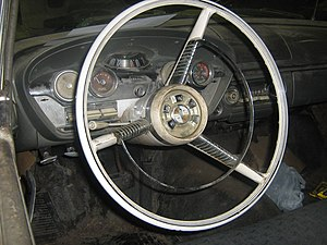 Edsel - Edsel Ranger interior, showing the Teletouch system and Rolling Dome speedometer