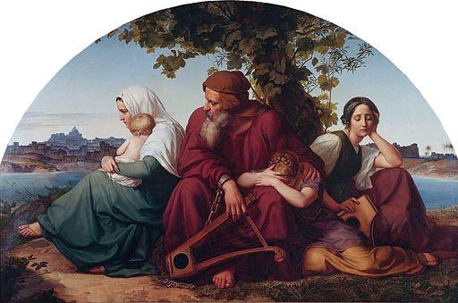 Eduard Bendemann- Die trauernden Juden im Exil um 1832