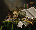 Edwaert Collier - Vanitas - Still Life with Books and Manuscripts and a Skull - Google Art Project.jpg