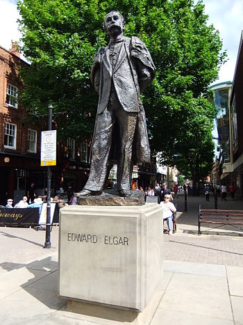 Statue of Edward Elgar at Worcester, England.