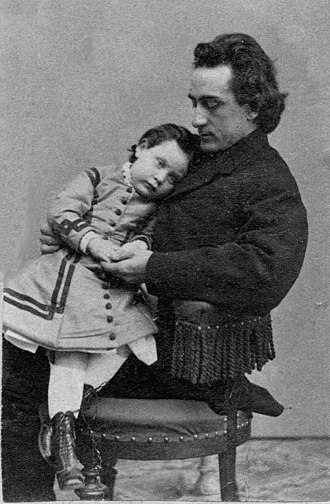 Edwin Booth - Edwin Booth with daughter Edwina, circa 1864