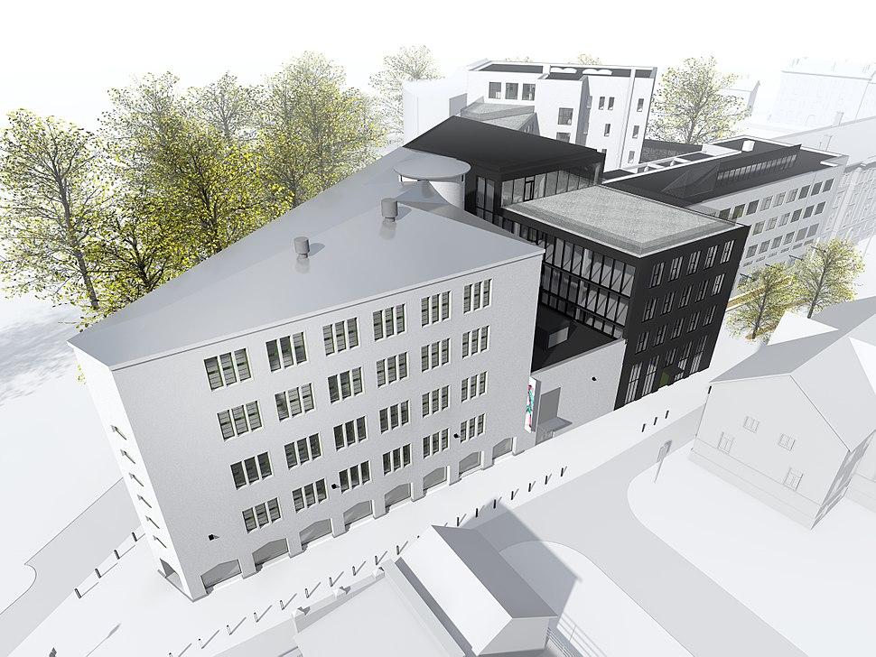 Eesti Kunstiakadeemia tulevane õppehoone Kotzebue 1-Põhja pst 7, Tallinn