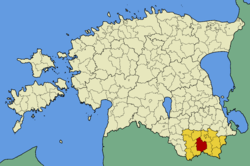 Rõuge Parish within Võru County.