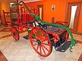 Eger Fire Station, historical fire engine, 2016 Hungary.jpg