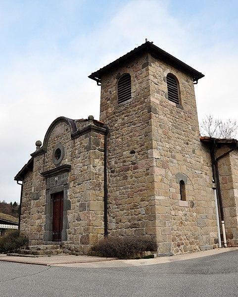 L'église de Saint-Cierge-sous-le-Cheylard.