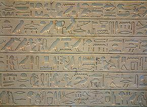 Древнеегипетские иероглифы.  В Египте и Междуречье писать и читать умели немногие. .