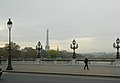 Eiffel Tower from Pont Alexandre-III, 9 November 2012.jpg