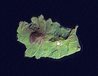 Ekarma - NASA Landsat view of Ekarma Island