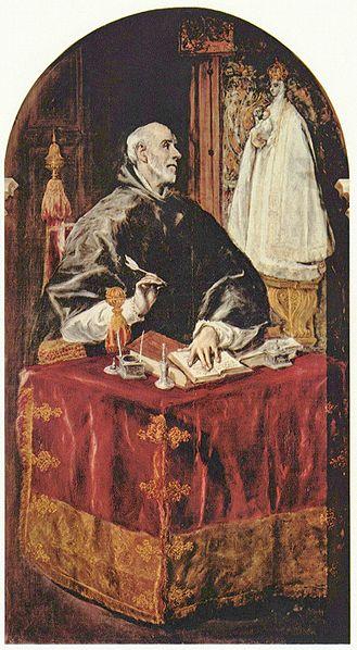 San Ildefonso, en una obra de El Greco (Fuente: Wikipedia)
