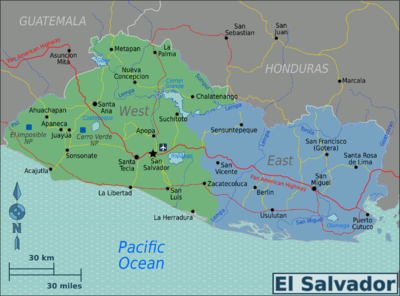 El Salvador Regions map.png