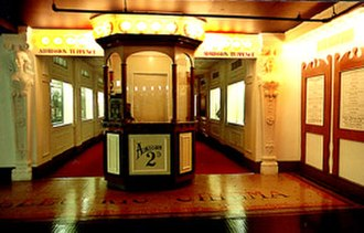 Museum of the Moving Image (London) - The early 'low-class' electric cinemas were contrasted with other more respected cultures of the first few years of the 20th century.