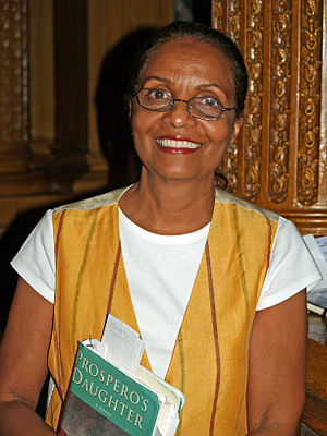 Elizabeth Nunez at the 2008 Brooklyn Book Fest...