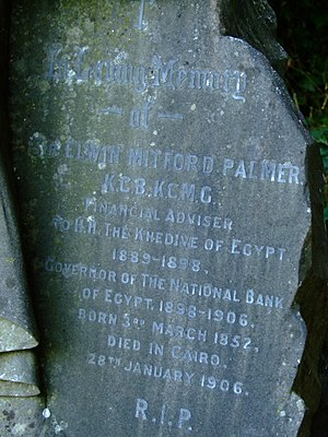 Elwin Palmer - Elwin Palmer's Headstone at Freshwater, Isle of Wight, UK