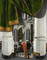 Emanuel de Witte - Tomb of William the Silent in the Nieuwe Kerk, Delft, with an Illusionistic Curtain - WGA25805.jpg