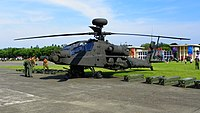 Empty ROCA AH-64E 810 on ROCMA Ground 20140531.jpg