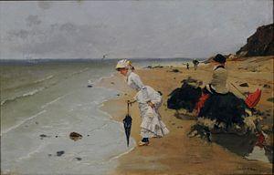 Ernest Ange Duez - Sur la plage