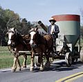 Equipment being rolled down a country road road 15963v.jpg