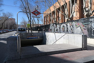García Noblejas (Madrid Metro) - Image: Estación de García Noblejas