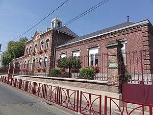 Estrées, Aisne - The town hall of Estrées