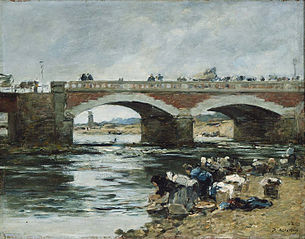 Washerwomen near a Bridge