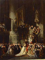 Une cérémonie dans l'église de Delft