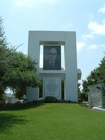 The Eugenio Garza Sada Memorial honors the Institute's chief founder and promoter at the Monterrey Campus Eugenio Garza Sada Memorial.jpg