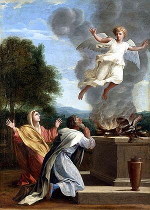 Samson - The Sacrifice of Manoah (1640-1650) by  Eustache Le Sueur