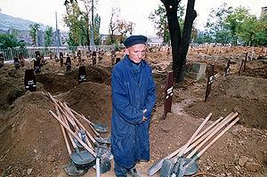 Gravedigger - Gravedigger with shovels, Sarajevo