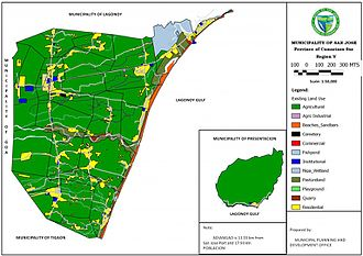 San Jose, Camarines Sur - This map provides the existing land utilization in the Municipality of San Jose.