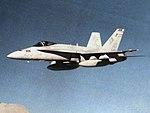 F-18A Hornet of VFA-132 in flight c1985.jpg