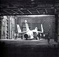 F-8H Crusader of VF-111 on elevator of USS Ticonderoga (CVA-14) in 1969.jpg