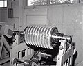 FACILITY COMPRESSOR NO. 2 - HIGH PRESSURE FACILITY HPF - ROTOR IN BALANCING MACHINE - NARA - 17447454.jpg