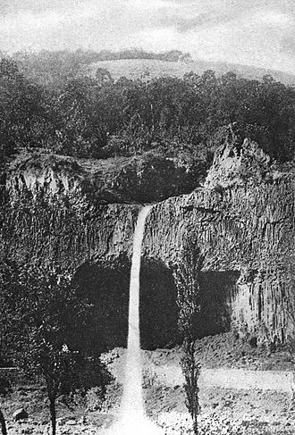 Antraigues-sur-Volane - A Waterfall at Antraigues 1907