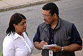 FEMA - 34799 - FEMA public information officer speaking to a reporter in Georgia.jpg