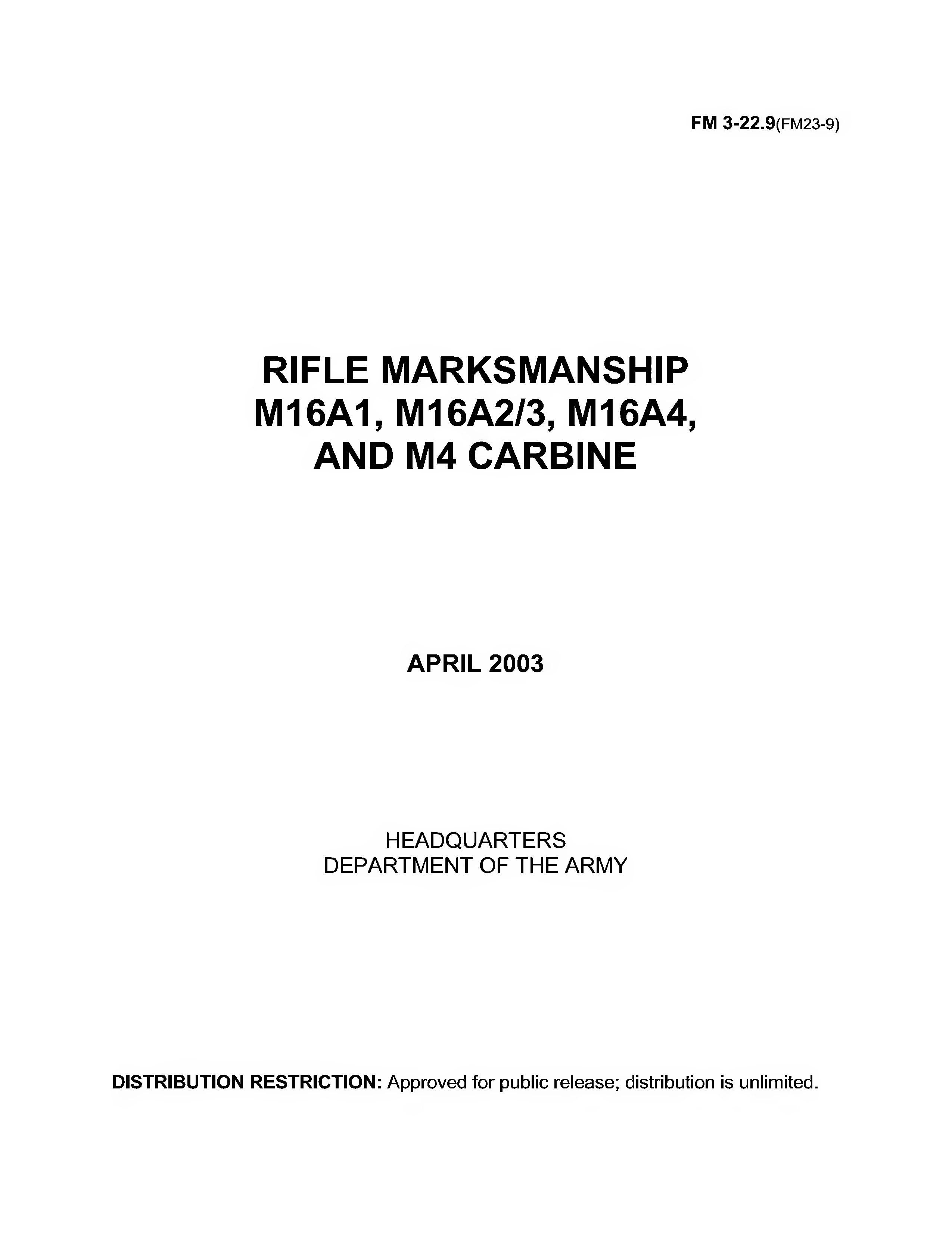 fm 3 22 9 toma daretodonate co rh toma daretodonate co USMC M4 Carbine m4/m16 field manual