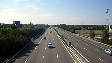 Photographie de l'autoroute A 7 près d'Orange