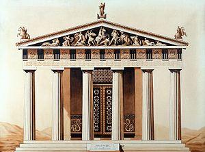 Facade of temple of Aesculapius at Epidaurus Wellcome L0016949.jpg