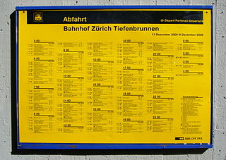 information on public transport service times