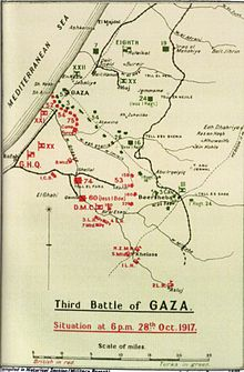 Military map of Gaza