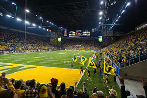 North Dakota State Bison football - The Fargodome during a North Dakota State Bison Football Game