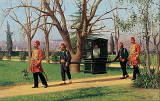 The Daughter of the English Ambassador Riding in a Palanquin