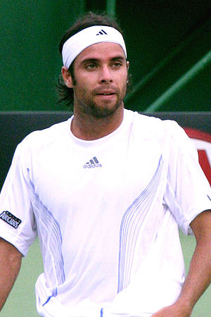 Fernando Gonzalez at the 2007 Australian Open,...