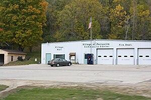 Ferryville, Wisconsin - Image: Ferryville Wisconsin Village Hall Fire Station WIS35