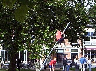 Fierljeppen - Fierljeppen in Heerenveen