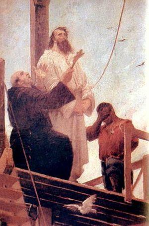 Inconfidência Mineira - Tiradentes being hanged.