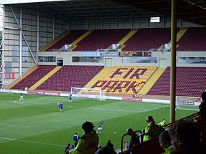 Fir Park - The South Stand is normally used for away supporters and is the largest stand at the ground.