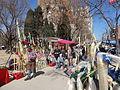 Fira de palmons a la plaça de la Sagrada Família.JPG