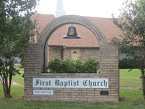 Jewett, Texas - Image: First Baptist Church, Jewett, TX IMG 2294