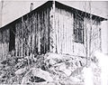 First cabin on East Bearskin built by Jack Valentine and Charles Taylor, 1913 (5188137616).jpg